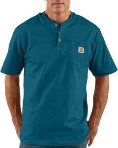 Carhartt Short Sleeve Henley Work Shirt - Big & Tall, , hi-res