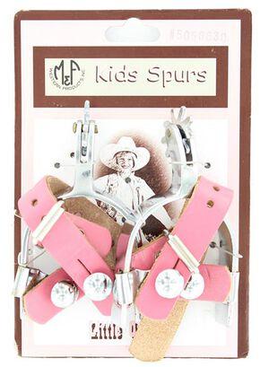 Little Outlaw Girls' Pink Spurs, Pink, hi-res