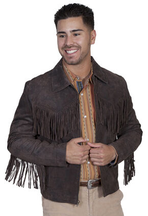 Scully Leatherwear Men's Frontier Leather Jacket, Brown, hi-res