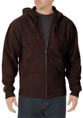 Dickies Midweight Fleece Zip-Up Hooded Work Jacket - Big & Tall, Brown, hi-res