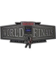Montana Silversmiths 2014 PBR World Finals Banner Buckle, , hi-res