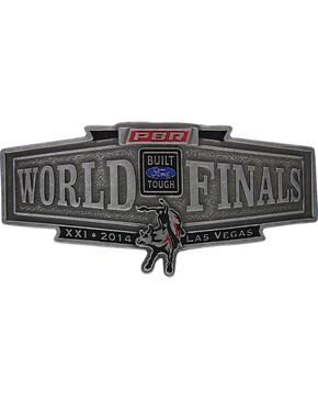 Montana Silversmiths 2014 PBR World Finals Banner Buckle, Silver, hi-res