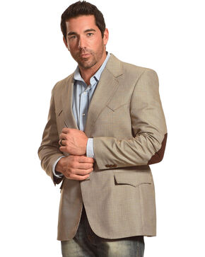 Circle S Men's Lubbock Elbow Patch Sport Coat, Brown, hi-res