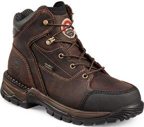Red Wing Irish Setter Women's Two Harbors Hiker Work Boots - Aluminum Toe , Brown, hi-res