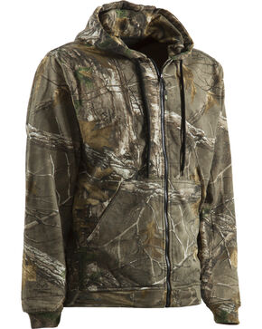 Berne Camouflage All Season Hooded Thermal Lined Sweatshirt, Camouflage, hi-res