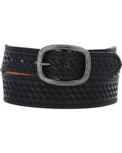 Chippewa Men's Black Basketweave Oak Ridge Leather Belt , , hi-res