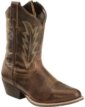Smoky Mountain Amanda Cowgirl Boots - Round Toe, Brown, hi-res
