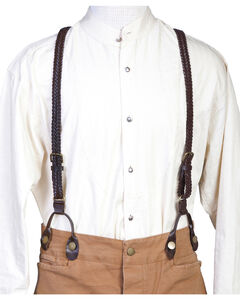 Scully Men's Flat Braided Suspenders, , hi-res