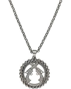 Montana Silversmiths Crossed Pistols Necklace, , hi-res