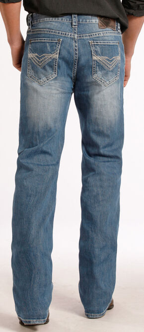 Rock and Roll Cowboy Double Barrel Relaxed Fit Heavy V Jeans - Straight Leg , Denim, hi-res