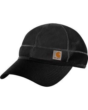 Carhartt Men's Force Griggs Fleece Visor Cap, Black, hi-res