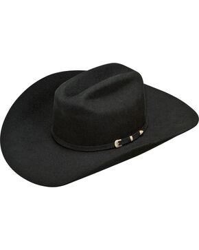 Ariat Men's Wool 2X Cowboy Hat , Black, hi-res