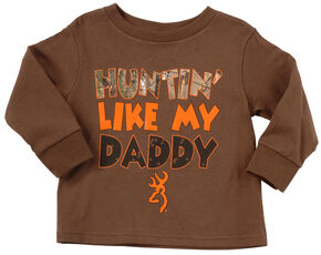 "Browning Toddler Boys' ""Huntin' Like Daddy"" Long Sleeve Tee, Brown, hi-res"