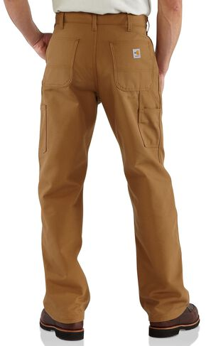 Carhartt Flame Resistant Duck Work Dungaree Pants - Big & Tall, Brown, hi-res
