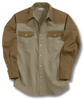 Carhartt Ironwood Twill Work Shirt - Big & Tall, Brown, hi-res