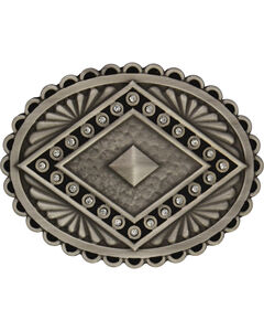 Rock 47 by Montana Silversmiths Points of Aztec Silver Pyramid Attitude Buckl, Antique Silver, hi-res