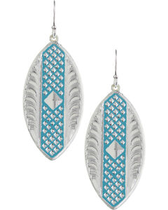 Montana Silversmiths CrossCut Turquoise Marquise Earrings, , hi-res