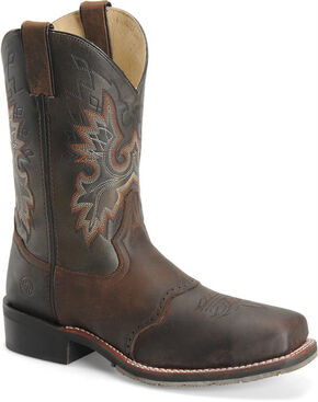 Double H Men's ICE Roper Western Boots - Steel Toe, Brown, hi-res