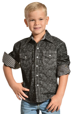 Red Ranch Boys' Paisley Western Shirt, Multi, hi-res