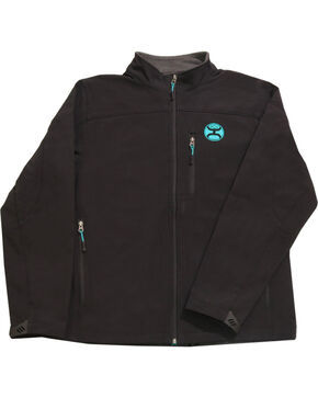 Hooey Men's Black Soft Shell Fleece Lined Jacket , Black, hi-res