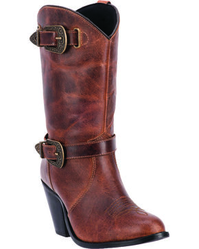 Dingo Women's Nelly Zipper Boots, Brown, hi-res