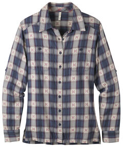 Mountain Khakis Blue Plaid Women's Tavern Flannel Shirt , , hi-res