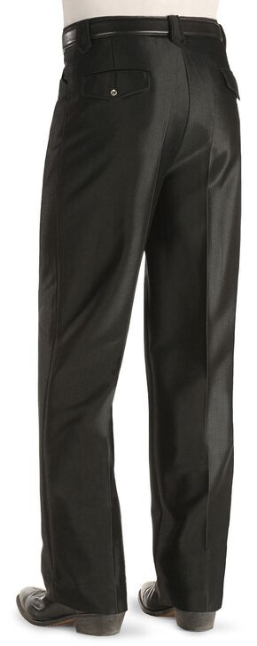 China Leather Men's Western Dress Slacks, Black, hi-res
