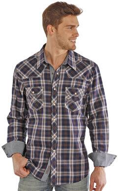 Rock and Roll Cowboy Herringbone Brushed Plaid Western Snap Shirt , , hi-res