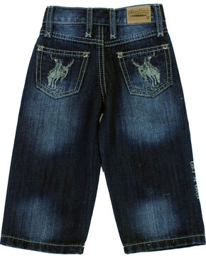 Cowboy Hardware Toddler Boys' Buckaroo Dark Wash Jeans (12MO-6), Indigo, hi-res