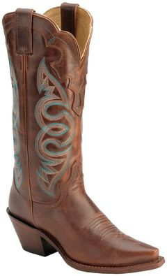 Justin Saddle Torino Cowgirl Boots - Snip Toe, , hi-res