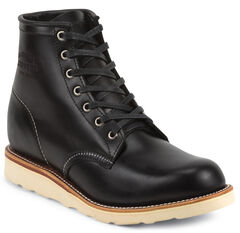 """Chippewa Men's Whirlwind 6"""" Lace-Up Work Boots - Round Toe, Black, hi-res"""