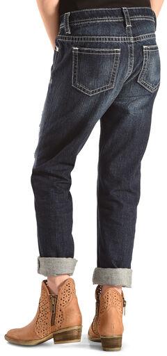 Miss Me Girls' Dark Indigo Boyfriend Jeans - Straight Leg , , hi-res