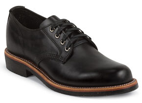 Chippewa Men's Whirlwind Service Oxford Shoes, Black, hi-res