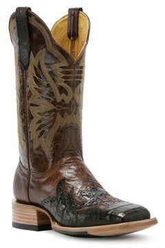 Cinch Classic Cigar Caiman Wingtip Cowgirl Boots - Square Toe, , hi-res