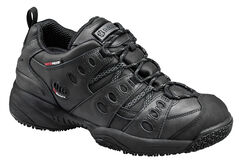 SkidBuster Men's Non-Slip Waterproof Leather Work Shoes, , hi-res