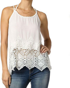 Miss Me Women's Lace Strappy Tank, , hi-res