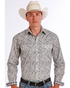 Panhandle Slim Men's Black Vivola Vintage Print Long Sleeve Shirt , , hi-res