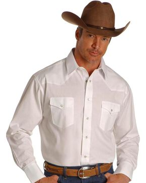 Wrangler Western Shirt - Big, Tall, White, hi-res