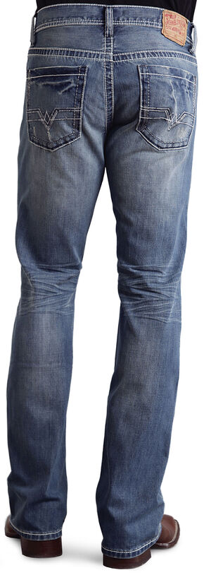 Stetson Rock Fit Frayed X Stitched Jeans, Light Stone, hi-res