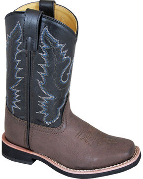 Smoky Mountain Youth Boy's Tyler Western Boots - Square Toe , Brown, hi-res