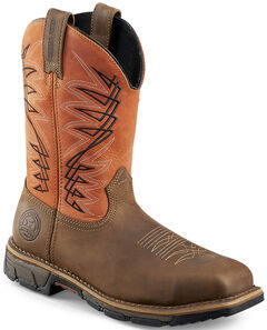 Red Wing Irish Setter Marshall Brown and Rust Work Boots - Soft Square Toe  , , hi-res