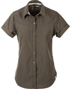 5.11 Tactical Women's Freedom Flex Woven Shirt , Green, hi-res