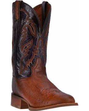 Dan Post Men's Smooth Ostrich Conrad Boots - Round Toe , Chocolate, hi-res