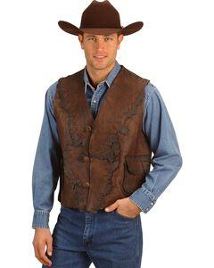 Kobler Antiqued Leather Vest, , hi-res