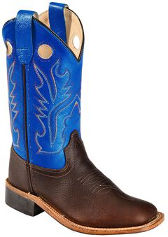 Old West Youth Boys' Thunder Cowboy Boots - Square Toe, , hi-res