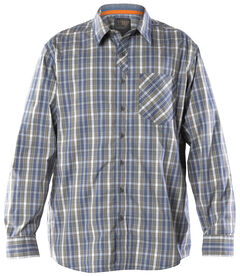 5.11 Tactical Men's Covert Flex Long Sleeve Shirt, Blue, hi-res