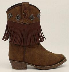 Blazin Roxx Toddler Girls' Zip Annabelle Fringe Boots - Snip Toe, , hi-res