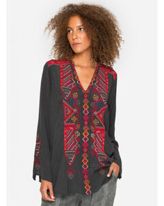 Johnny Was Women's Oohla Silk Blouse, , hi-res