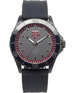 Jack Mason Texas A&M Men's Blackout Silicone Strap Watch , , hi-res
