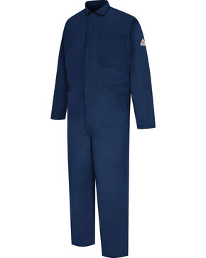 Bulwark Men's Navy Flame Resistant Excel Classic Coveralls - Big & Tall , Navy, hi-res